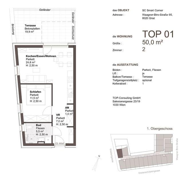 Top Consulting Grundriss Smartcorner Graz