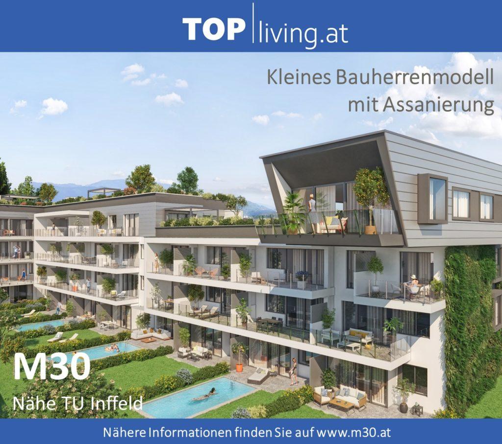 M30 Kleines Bauherrenmodell mit Assanierung Graz Nähe TU Inffeld Wohnbauprojekt